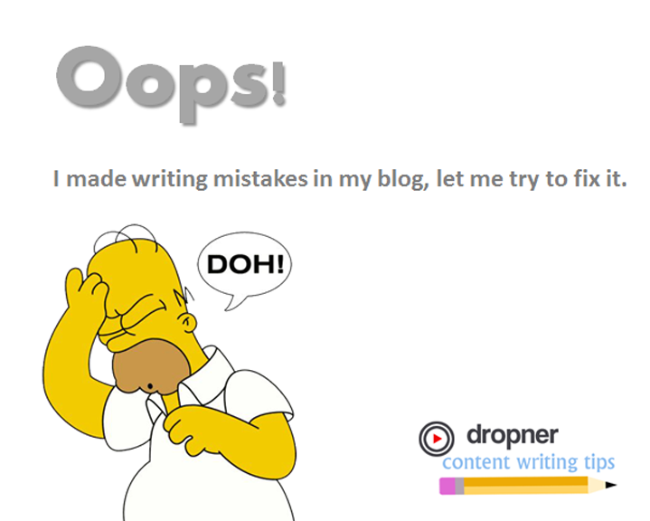 Writing mistakes that I made