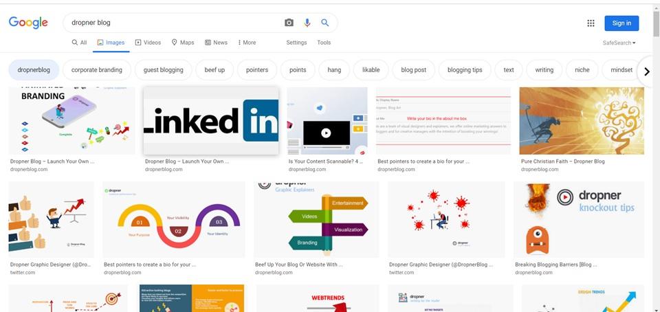 google-images of dropner blog