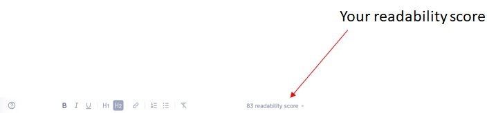 Grammarly reading score