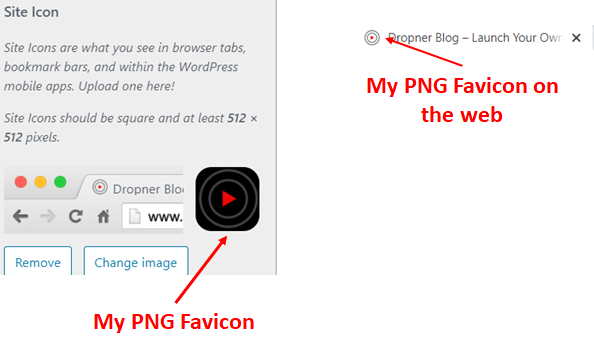 My WordPress Favicon example